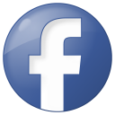 facebook round button