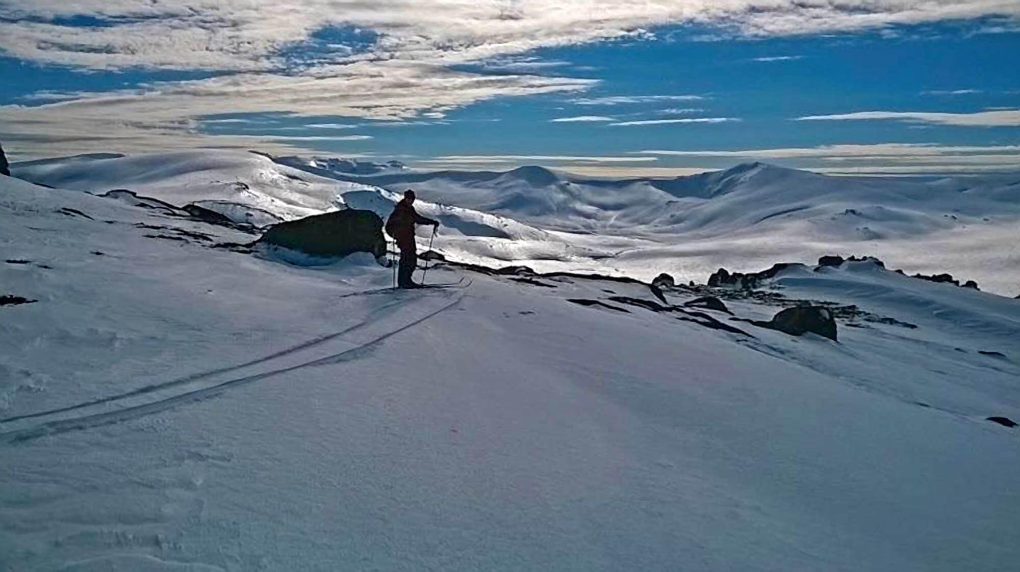 Kosciuszko Main Range from Stillwell Ridge