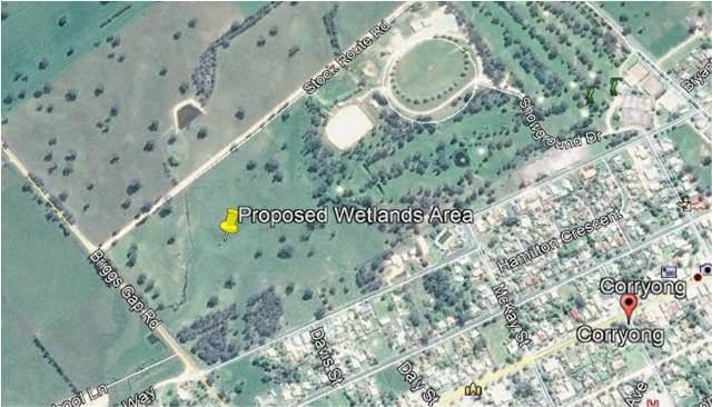 Corryong Wetland Google image