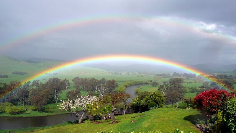 Rainbow over the Upper Murray